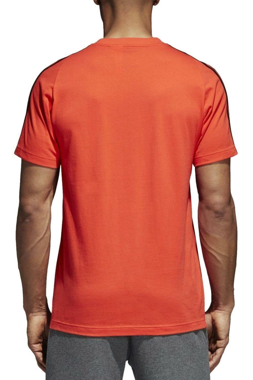adidas adidas ess 3s tee t-shirt uomo arancio cw3806