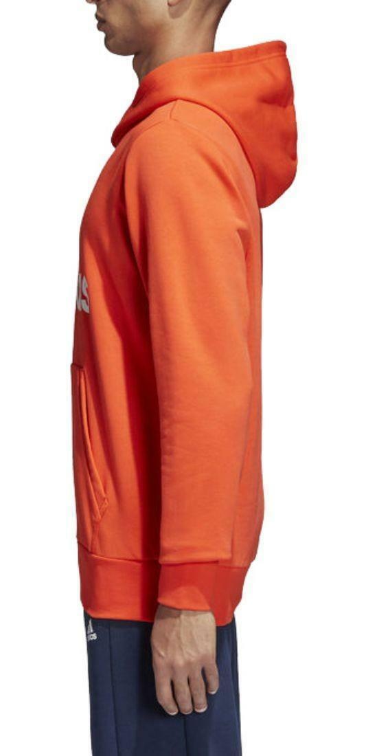 adidas adidas ess lin p/o felpa uomo arancio