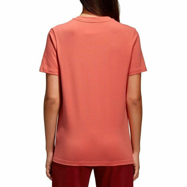 adidas adidas trefoil tee t-shirt donna rosa