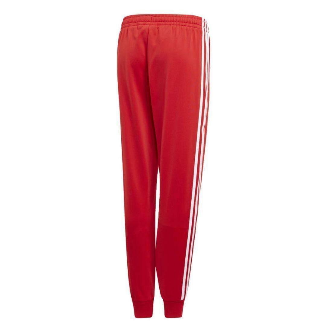 adidas adidas sst pant j pantaloni bambino rossi