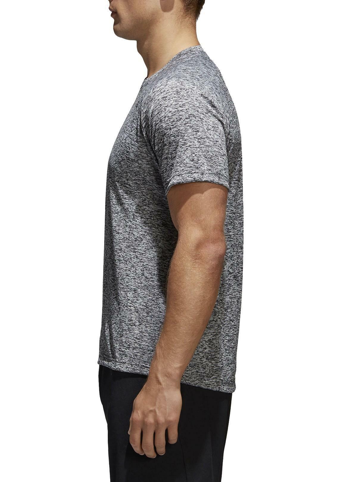 adidas adidas d2m tee ht t-shirt uomo grigia nera bk0933