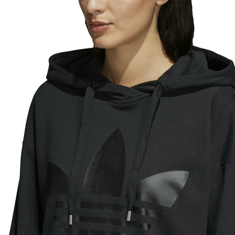 adidas adidas hoodie felpa lunga donna nera cd6916