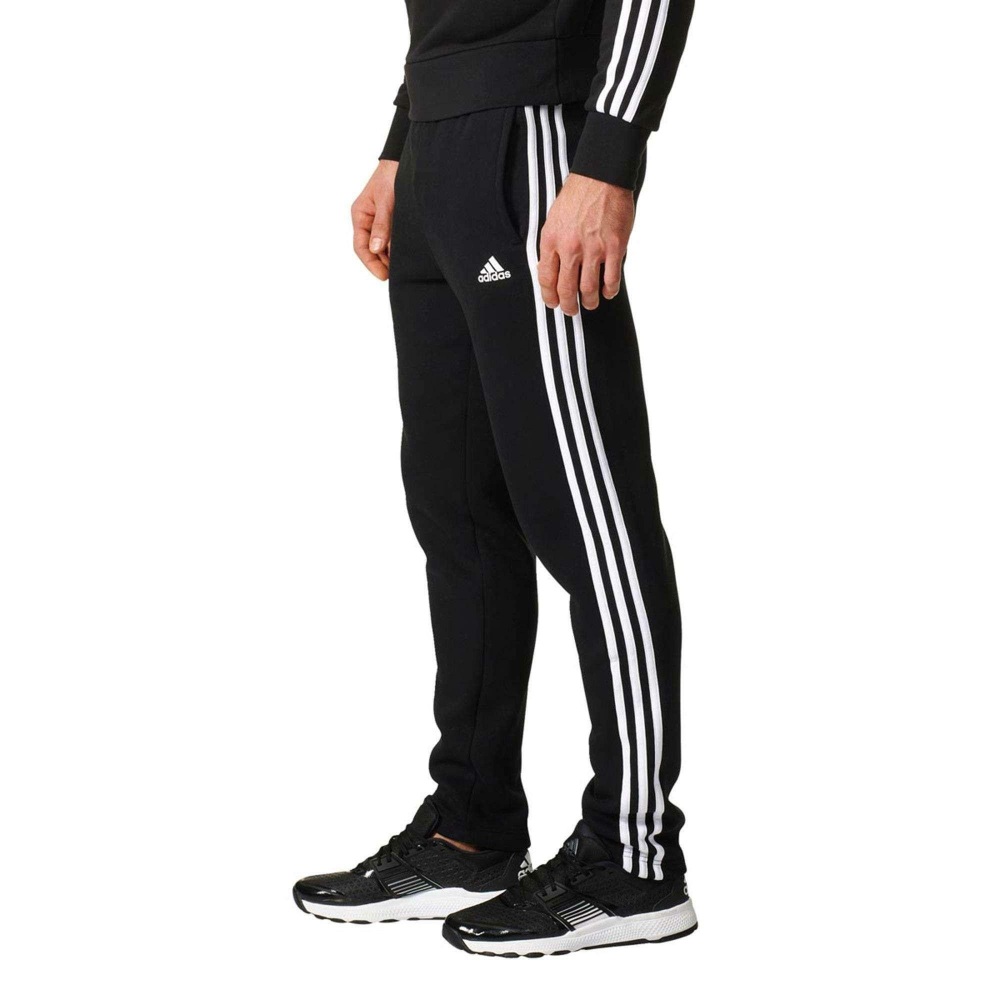 adidas adidas ess 3s t pantaloni tuta uomo nero bk7422