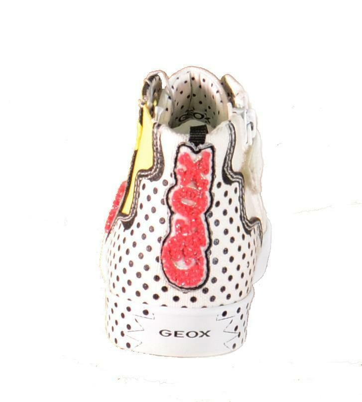 geox geox j ciak g scarpe sportive bambina bianche tela lacci e zip j6204a
