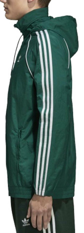 adidas adidas originals superstar windbreaker giacchetto uomo verde cw1311