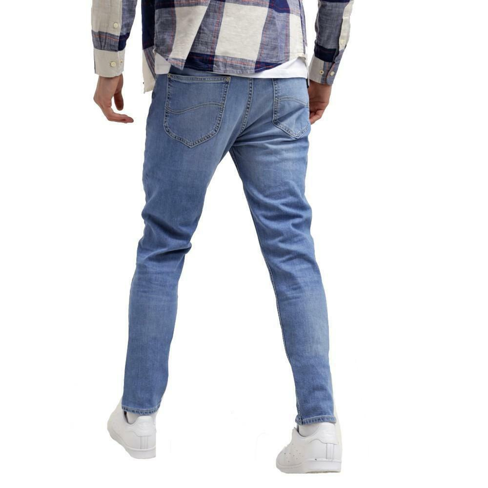 lee lee arvin caribbean ocean jeans uomo chiaro a sigaretta regular tapered l732bcqh