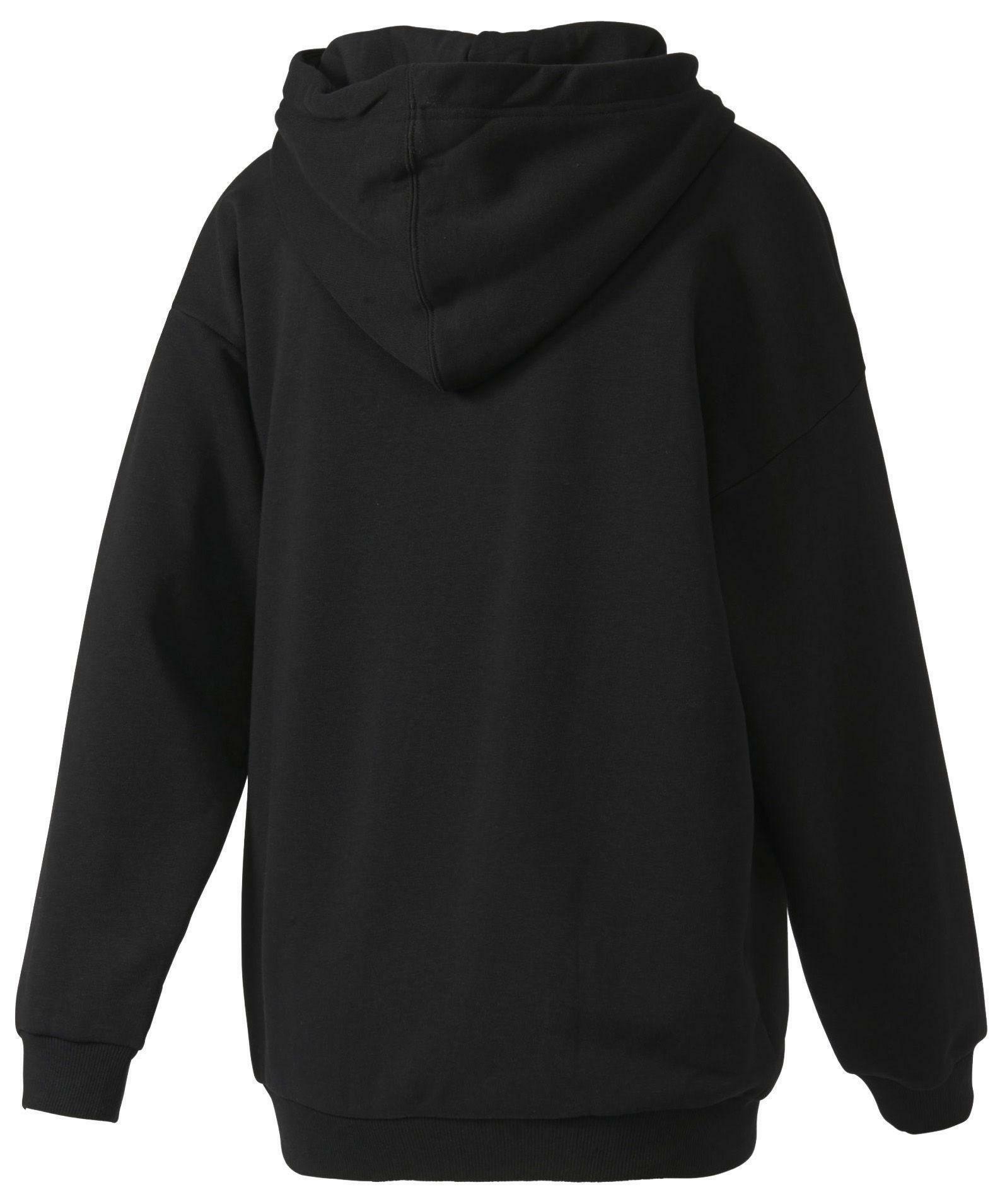adidas adidas trefoil hoodie felpa donna nera