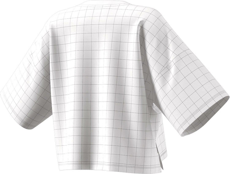 adidas originals adidas clrdo t-shirt crop donna bianca
