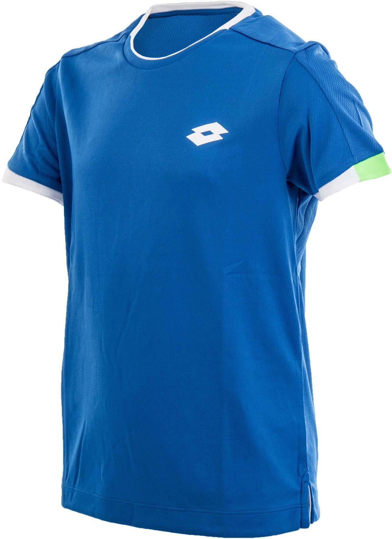 lotto lotto aydex ii tee b maglia tennis deep dry tech bambino azzurra s1304