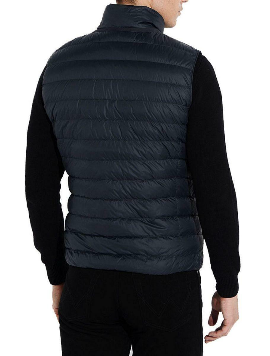 geox geox man down jacket giubbotto smanicato uomo blu scuro