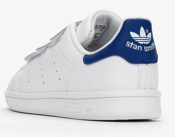 adidas adidas stan smith cf c scarpe sportive bambino bianche pelle strappi s74779