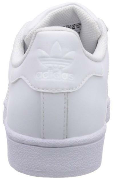 adidas superstar foundation j scarpe sportive donna bianche pelle lacci b23641