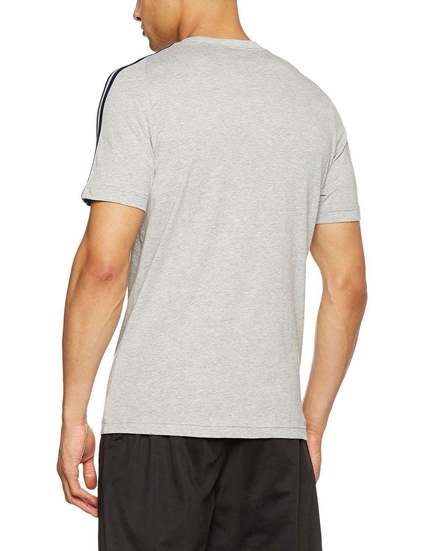 adidas adidas ess 3s tee t-shirt uomo grigia