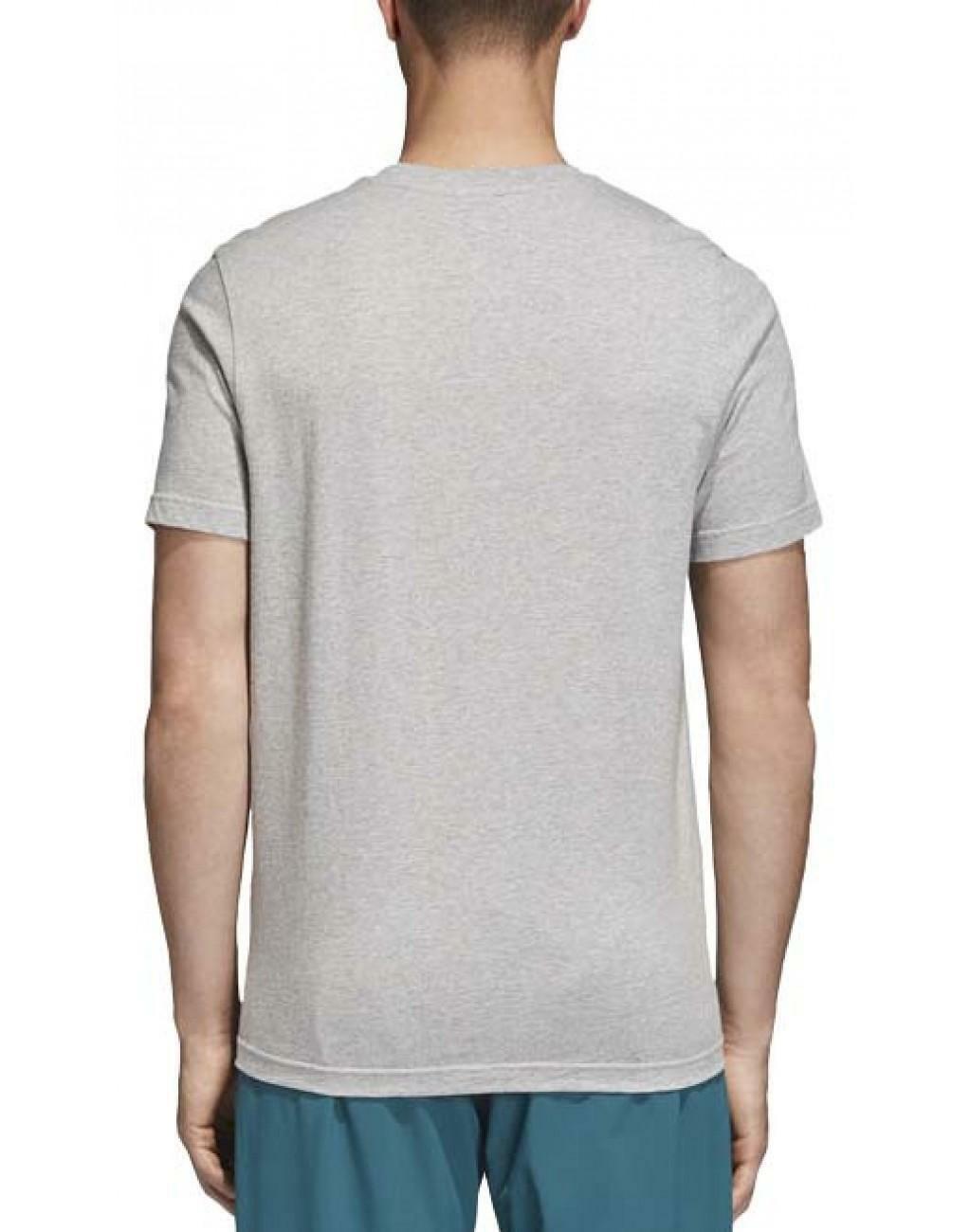 adidas adidas trefoil t-shirt uomo grigia
