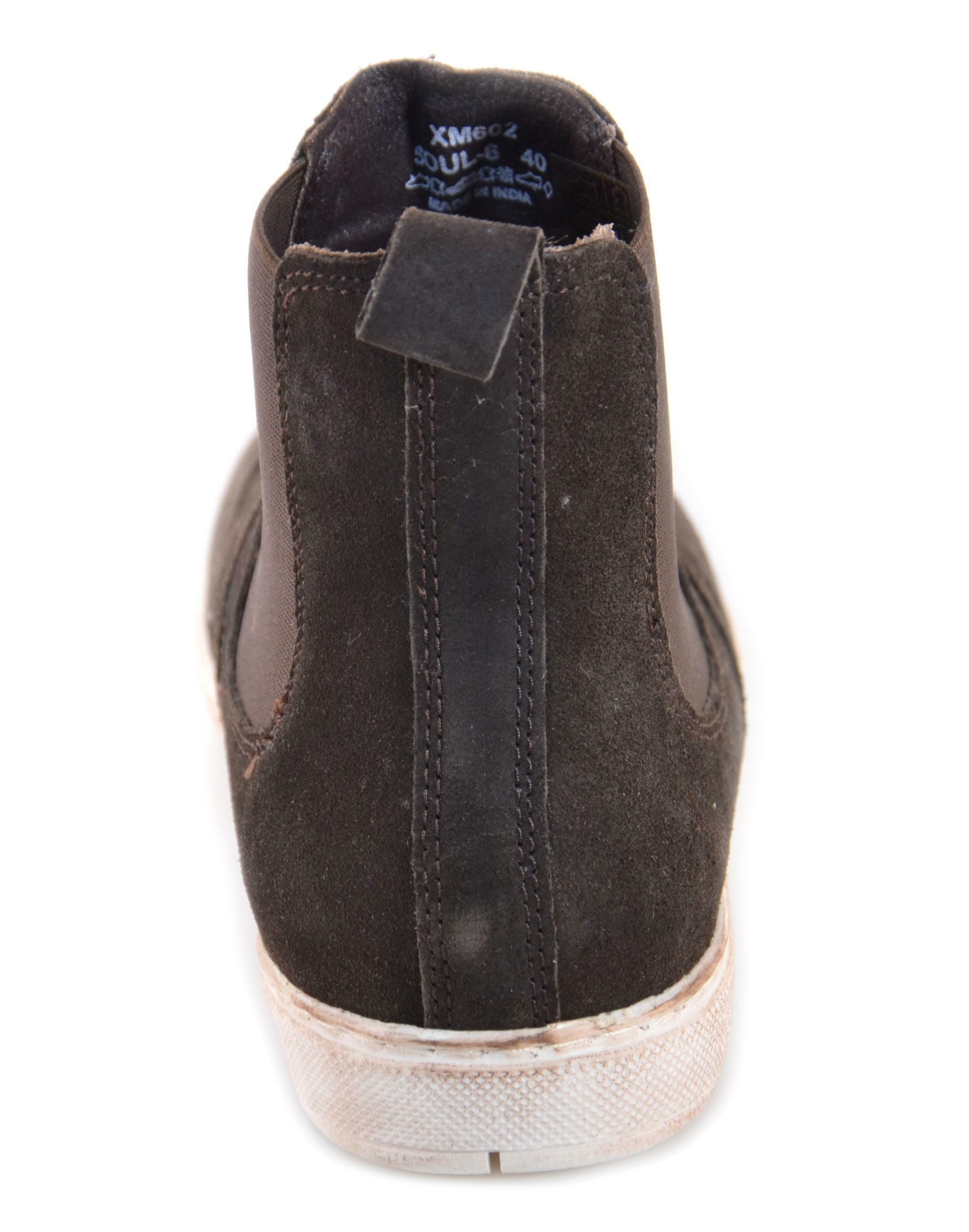 cafnoir scarponcino uomo marrone pelle effetto vintage txm602