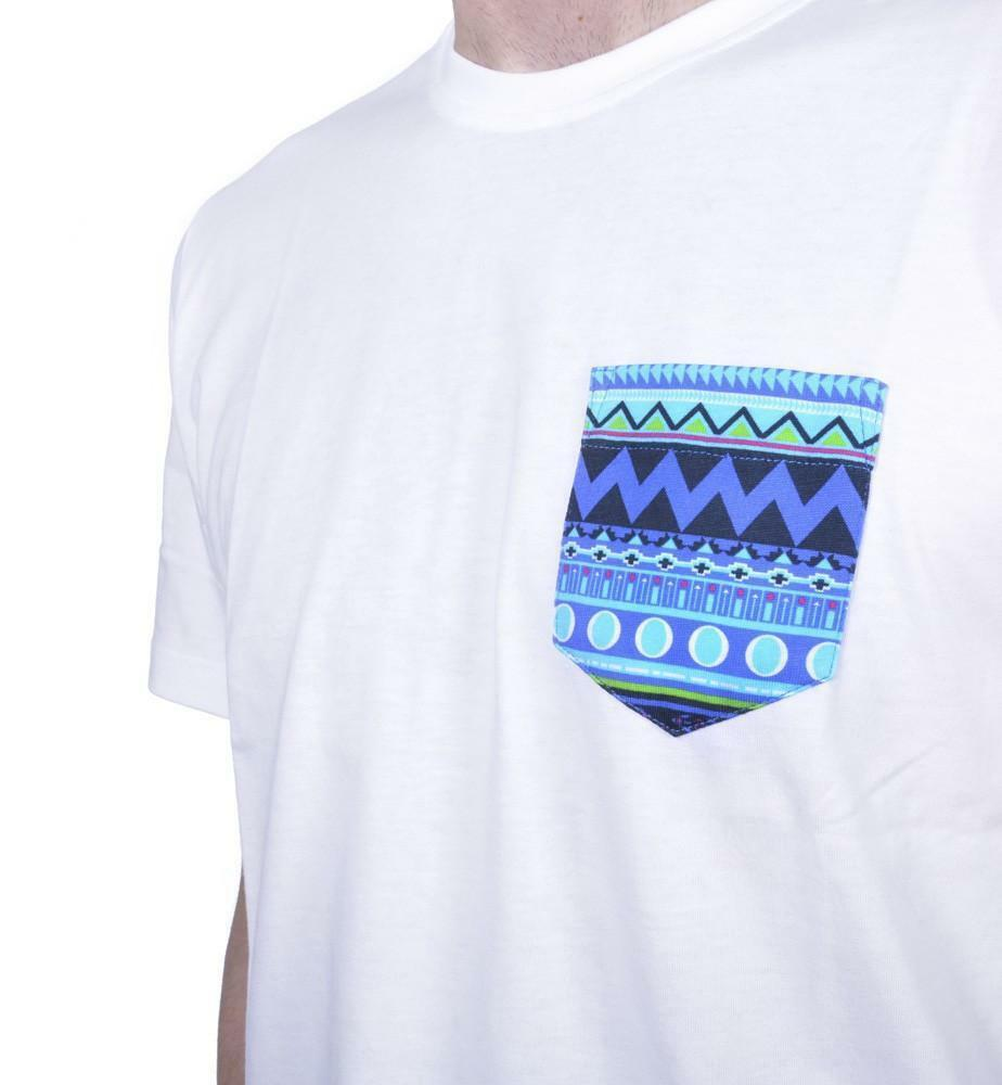 new era new era native pocket tee t-shirt uomo bianca