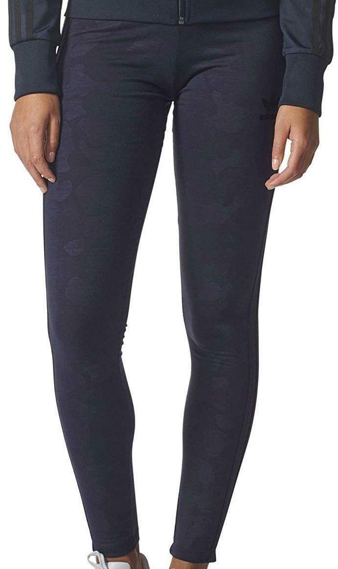 adidas adidas 3s leggins donna blu camouflage