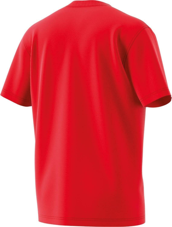 adidas adidas originals trefoil t-shirt uomo rossa cx1895