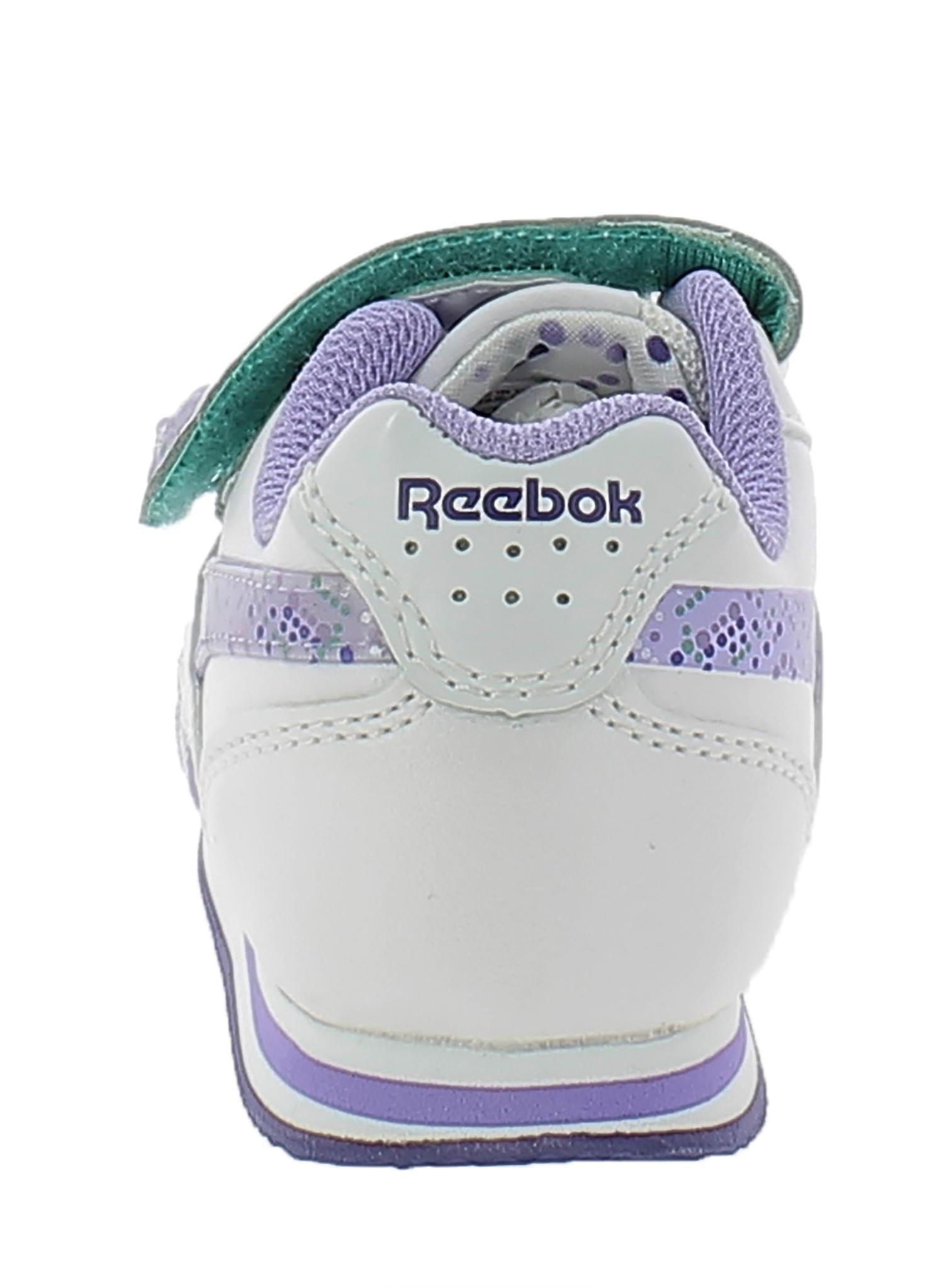 reebok reebok scarpe bambina bianco viola pelle 52365