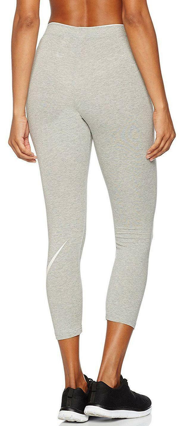 nike nike w nsw club crop logo leggings donna grigi