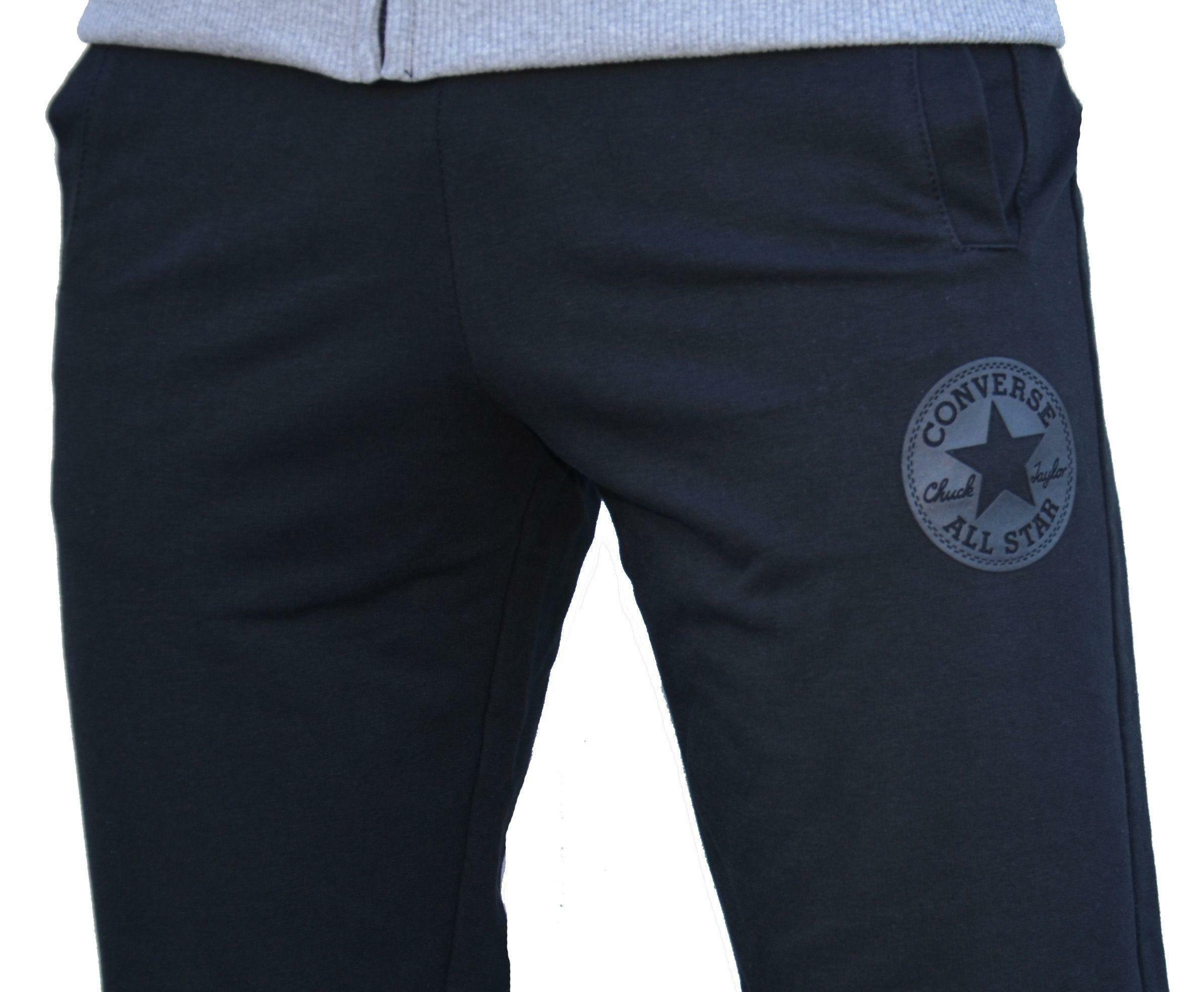 converse converse fleece hoodie pantalone tuta uomo nero