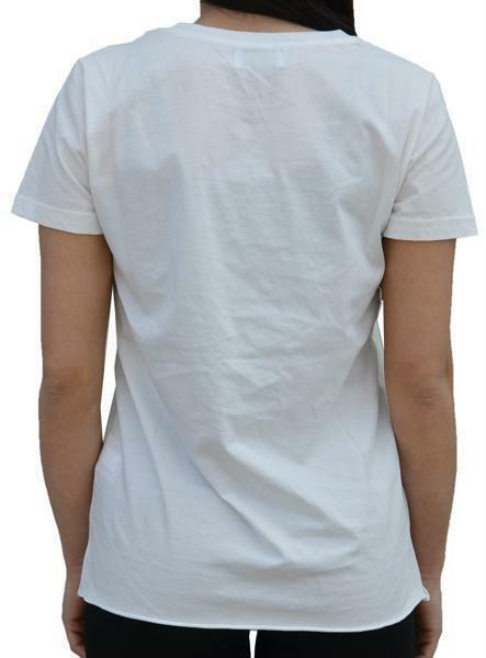 converse converse t-shirt donna bianca 7427a01