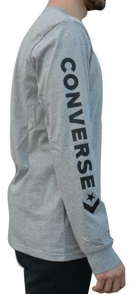 converse converse t-shirt manica lunga uomo grigia 6013a02