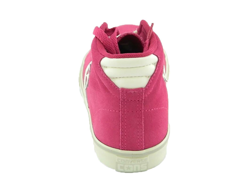 converse pro leather scarpe sneakers donna bambina alte hi fuxia
