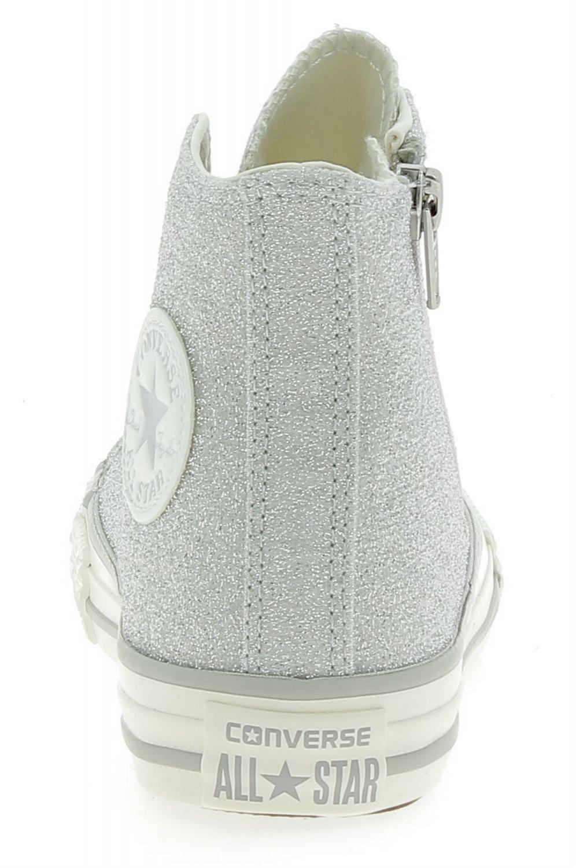 converse converse ctas side zip hi scarpe sportive bambina argento