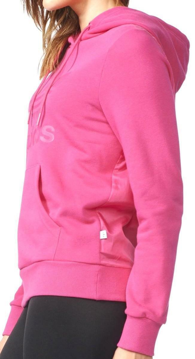 adidas adidas trefoil logo hoodie felpa donna fuxia