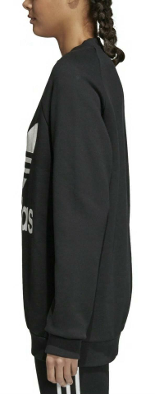 adidas adidas oversized felpa donna nera