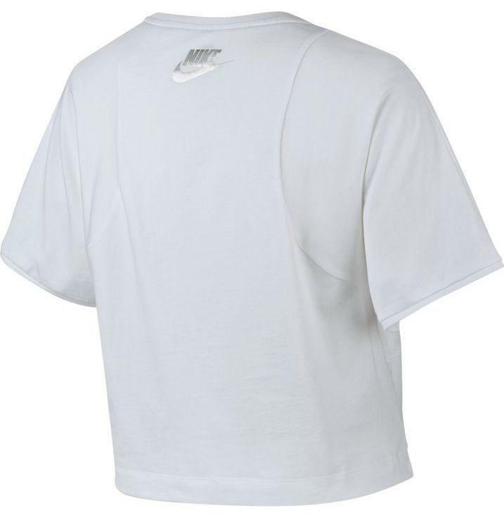 nike nike w nsw top ss hologram t-shirt donna bianca
