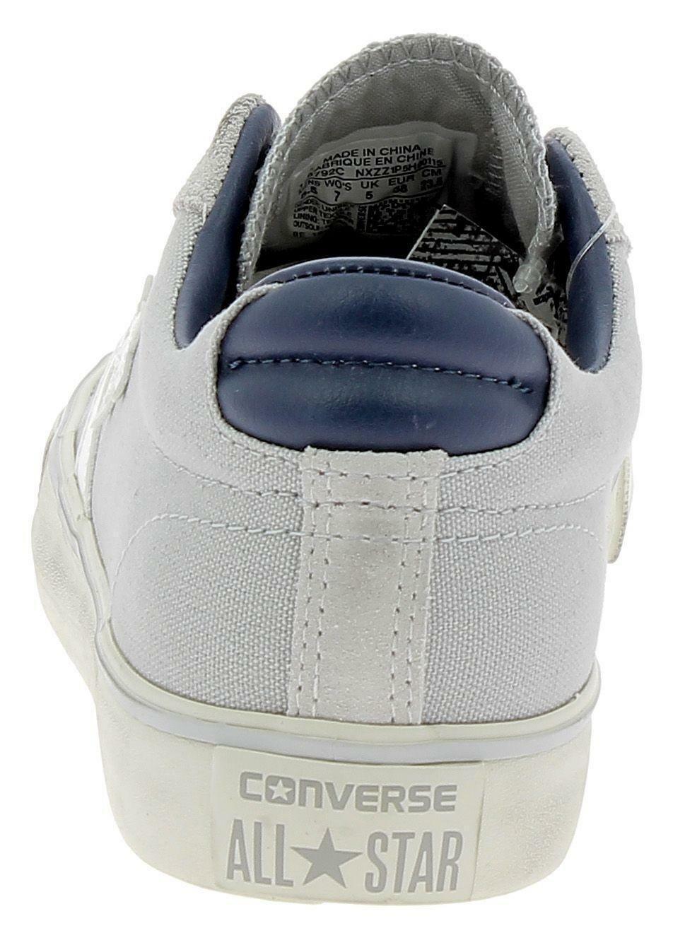 converse converse pro leather vulc distressed ox scarpe sportive grigie