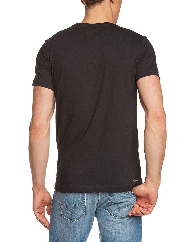 adidas adidas logo tee1 t-shirt uomo nera