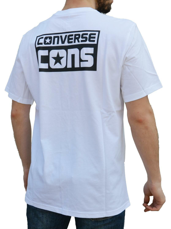 converse converse logo tee t-shirt uomo bianca 5693a02