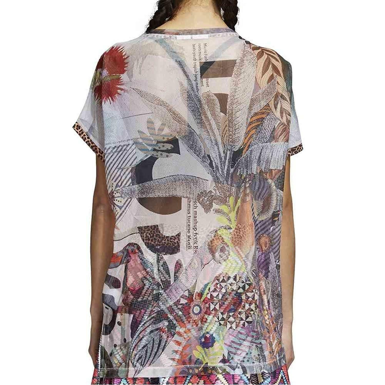 adidas adidas t-shirt boxy donna multicolore cw1393
