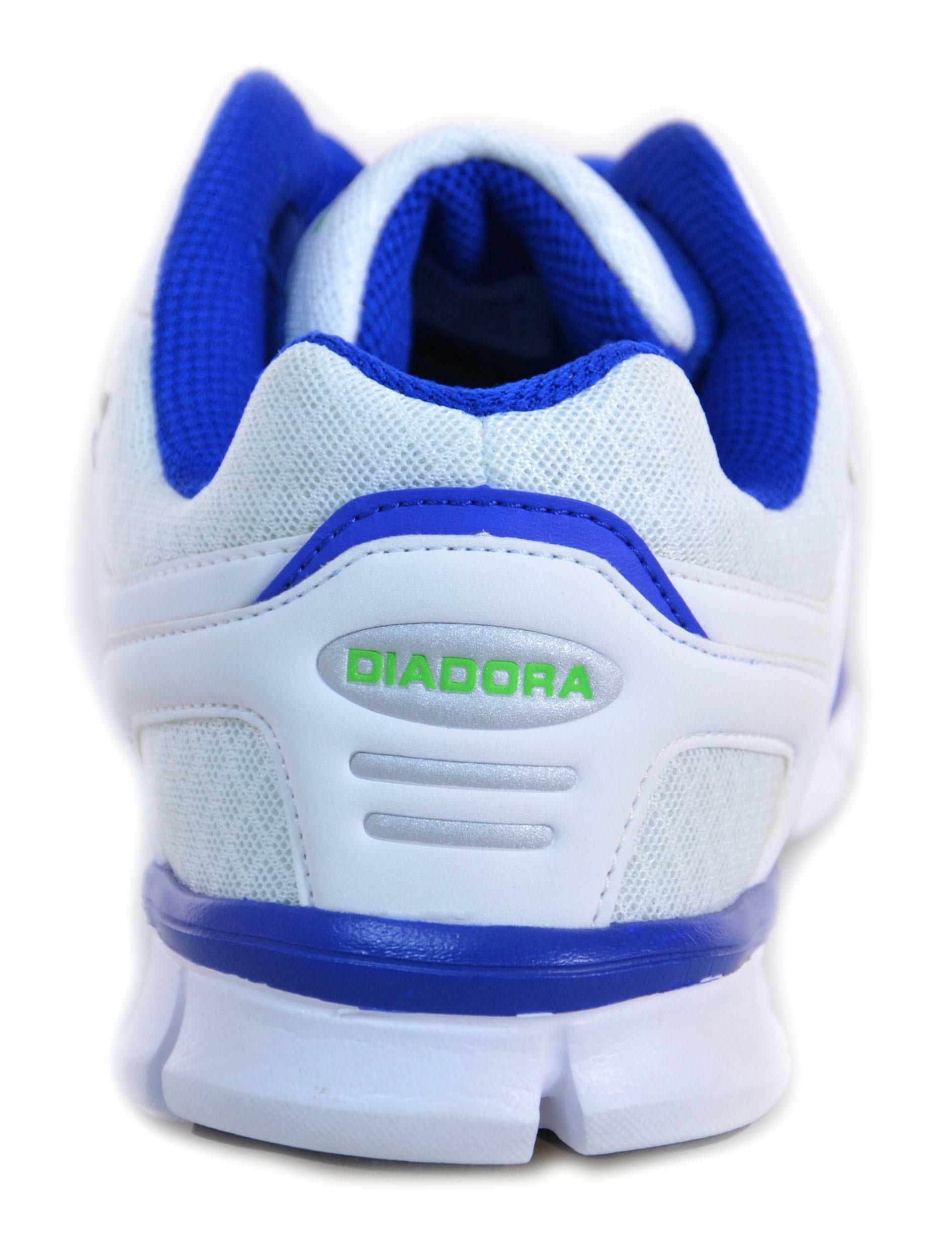 diadora diadora hawk scarpe bianche pelle tela 158981