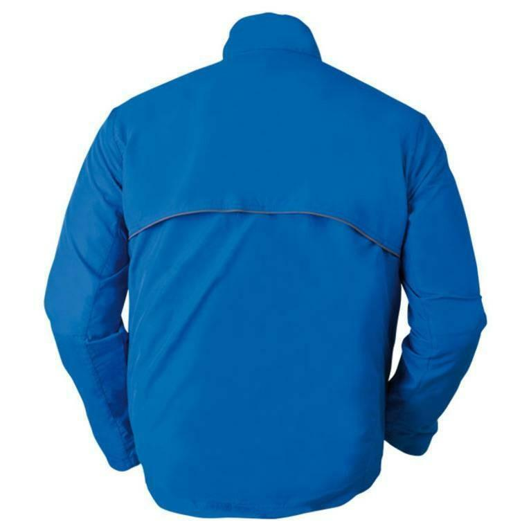izas izas giacca running hidden uomo blu