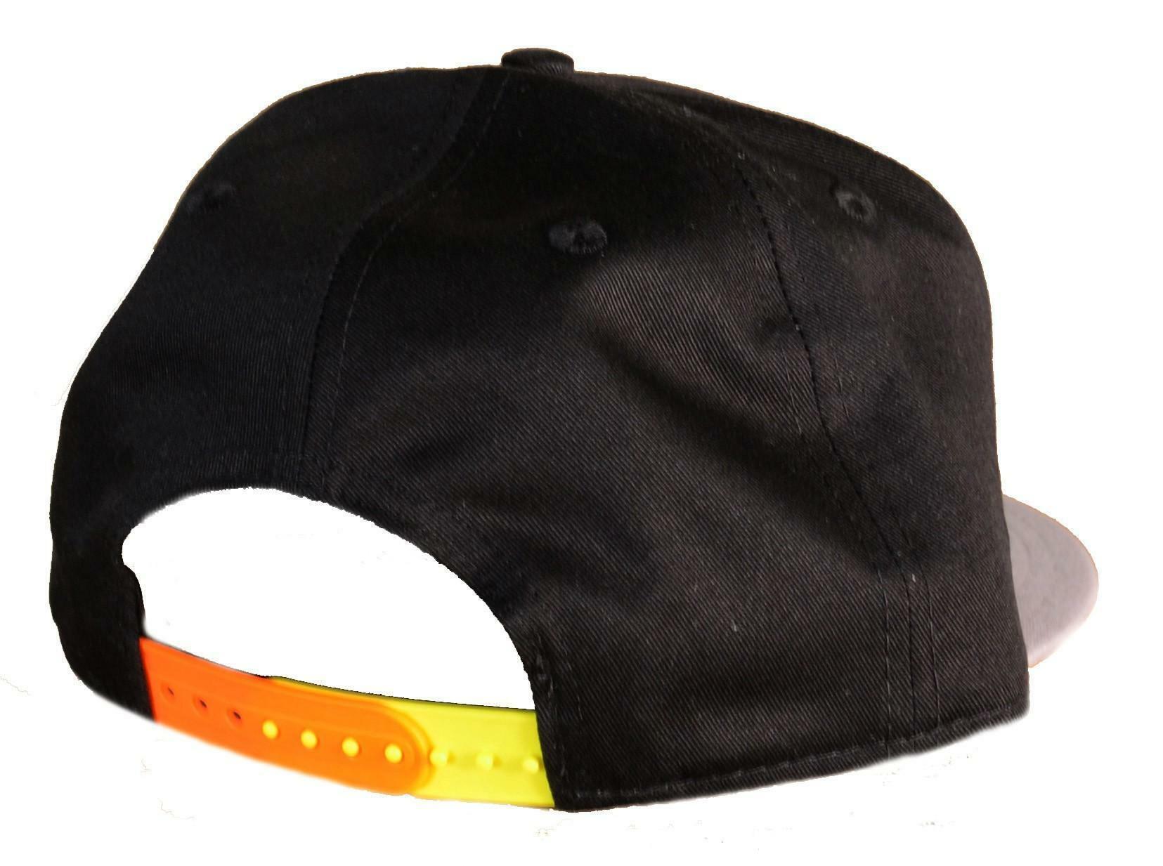 new era new era cappello visiera cotone nero grigio arancio ny