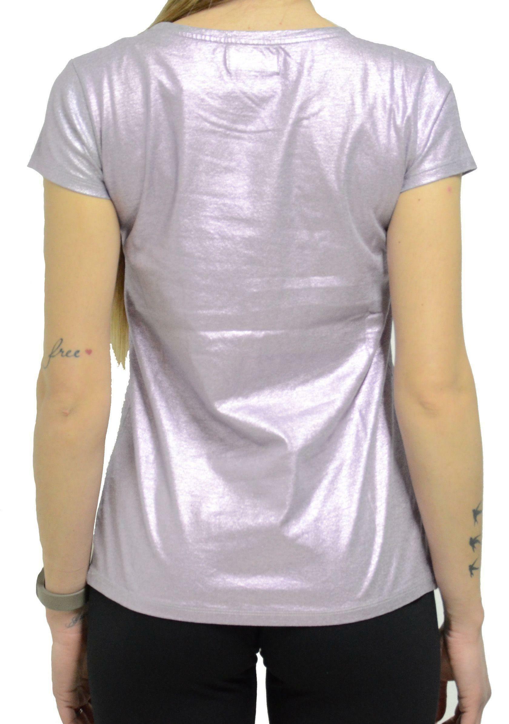 converse ss ct metallic t-shirt donna rosa