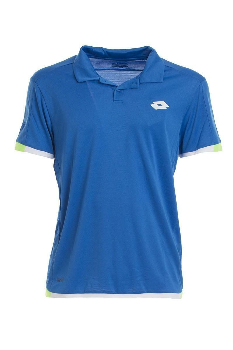 lotto lotto aydex ii atlantic polo uomo tennis azzurra r9846