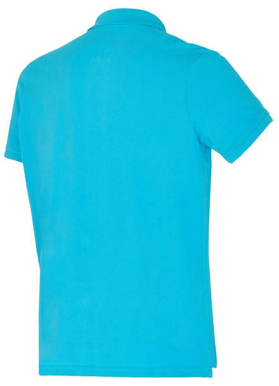 diadora diadora polo piquet uomo azzurra