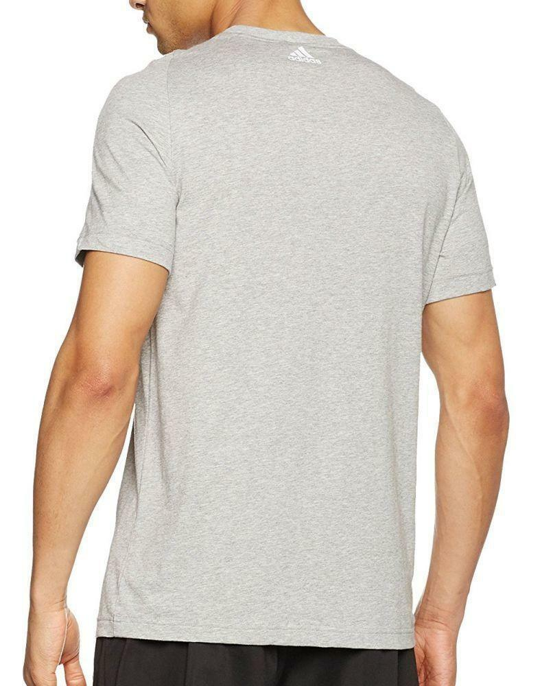adidas adidas ess linear tee t-shirt uomo grigia