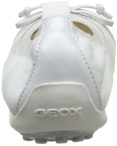 geox geox j piuma ballerine bambina pelle bianche j11bof