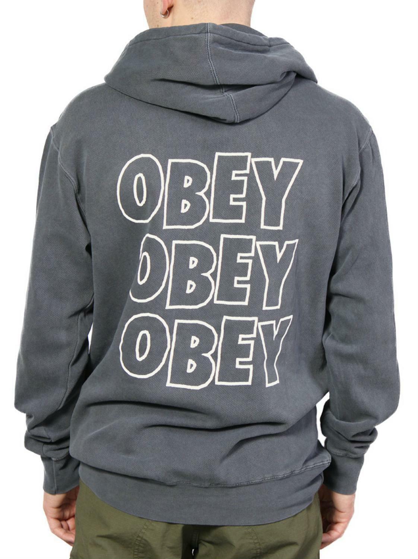 obey obey jumble lo-fi felpa uomo grigia 22118025222dba