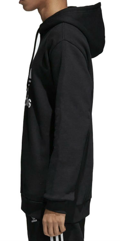 adidas adidas trefoil felpa nera cotone felpato uomo