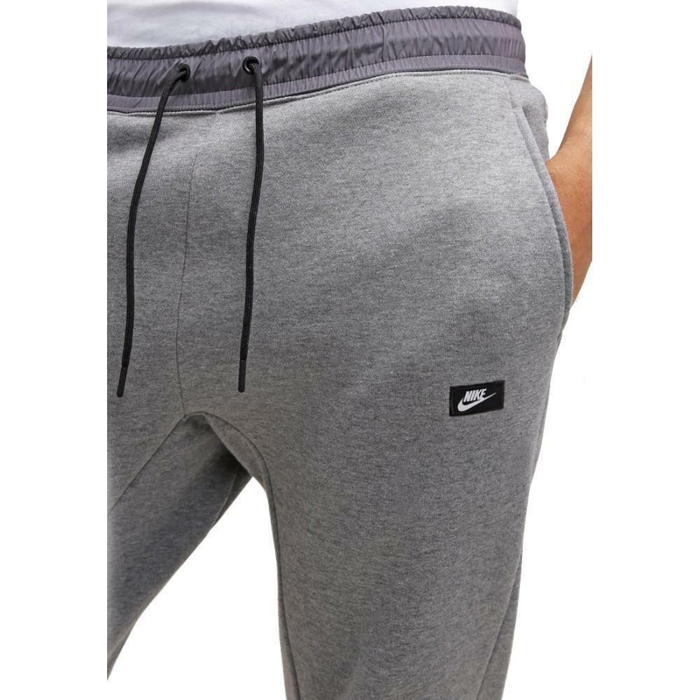 nike nike pantalone uomo grigio cotone felpato
