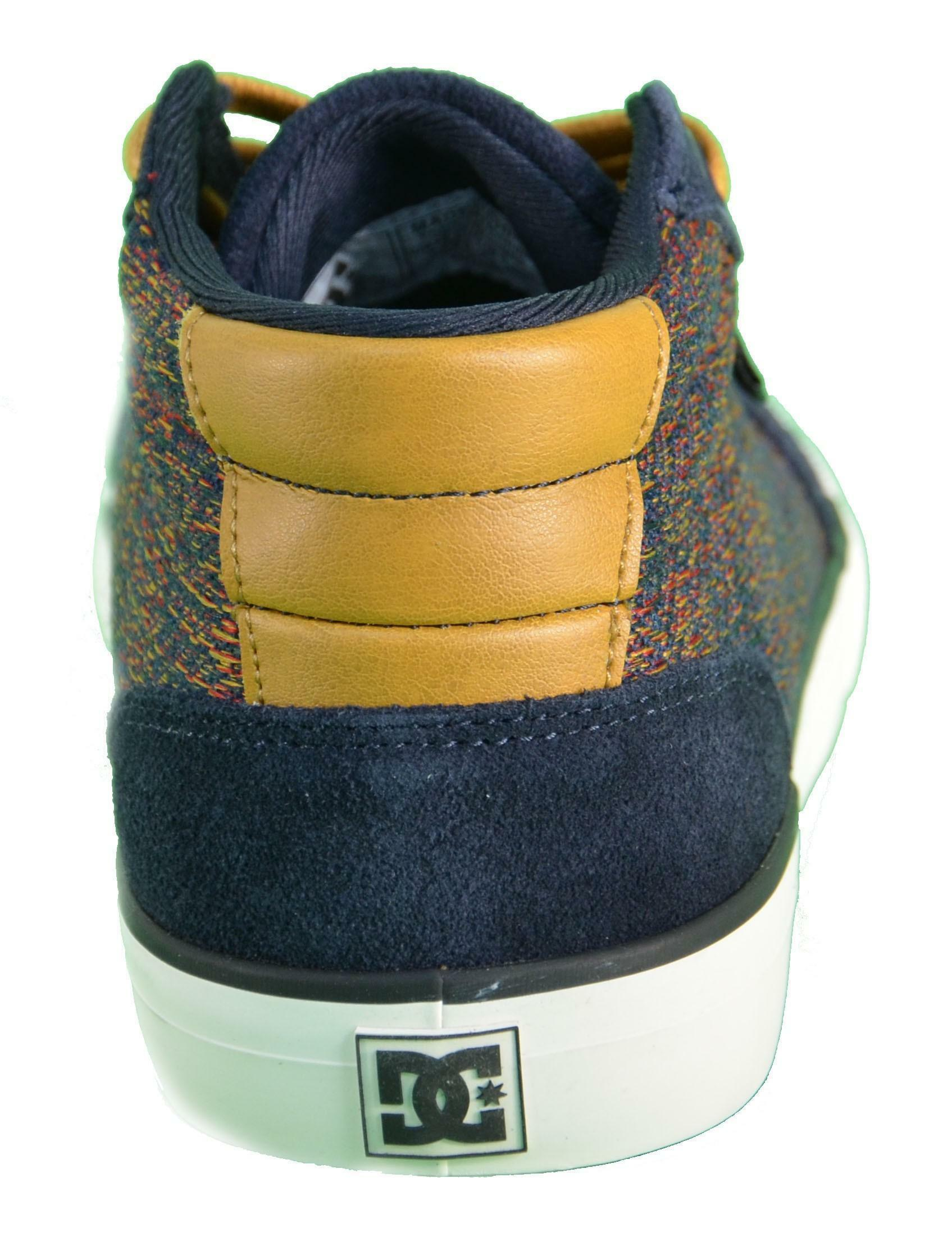 dc dc shoes council mid se scarpe blu pelle 300076