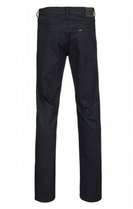 lee lee pantaloni uomo neri cotone straight