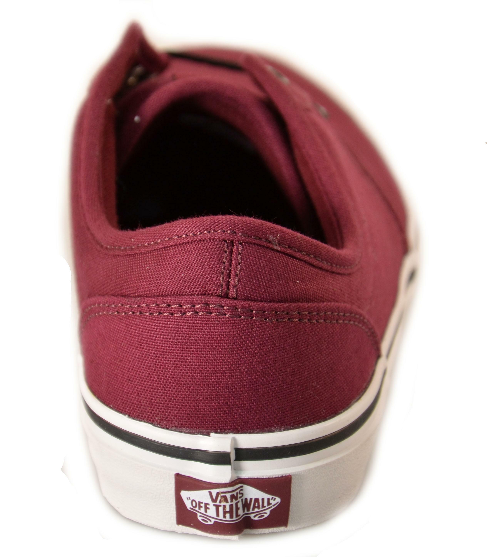 vans vans scarpe bordeaux tela lacci atwood